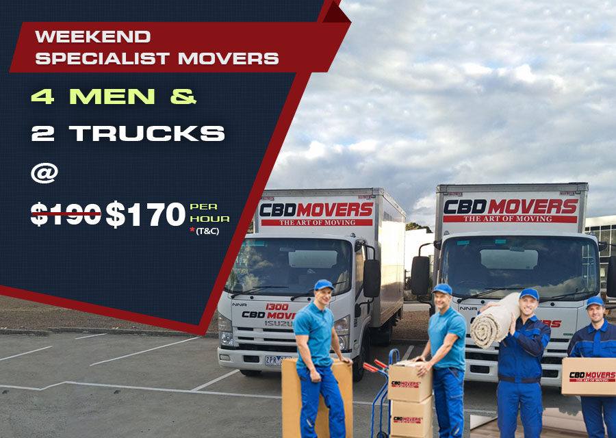 Weekend Special Movers - Hire 4 Men and Two Trucks