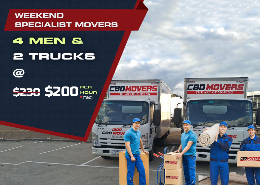 Removalists - 4 Men and 2 Trucks