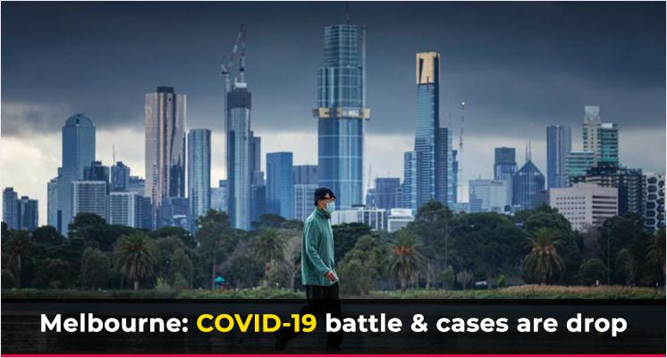 Melbourne COVID-19 battle & cases are drop