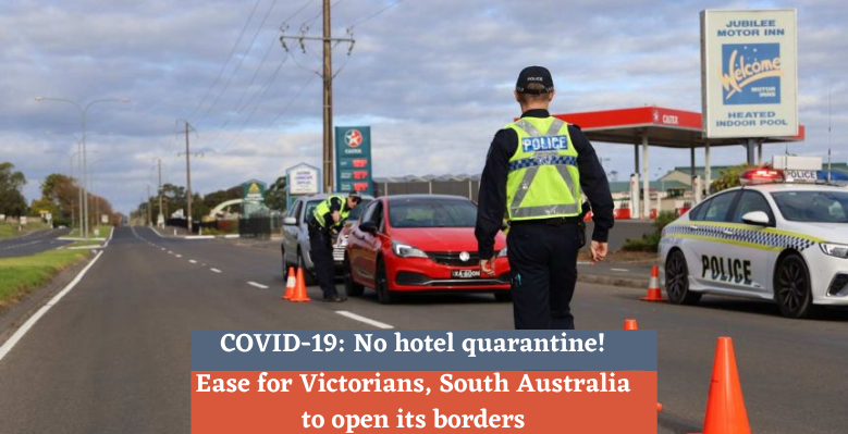 Ease for Victorians, South Australia to open its borders