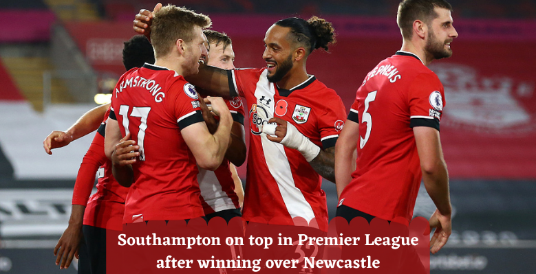 Southampton on top in Premier League after winning over Newcastle
