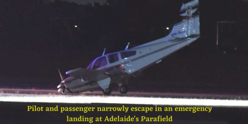 Pilot and passenger narrowly escape in an emergency landing at Adelaide's Parafield