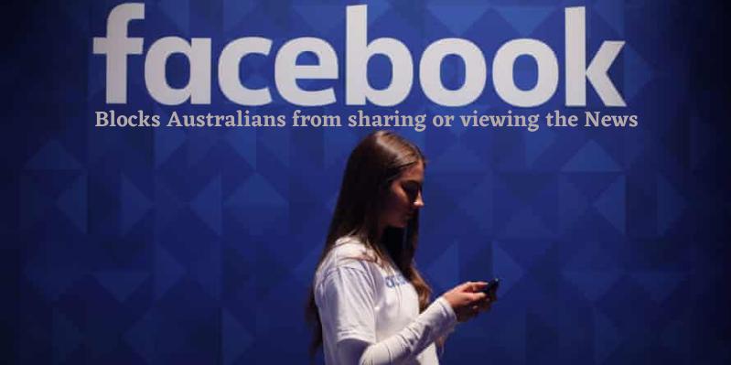 Facebook blocks Australians news
